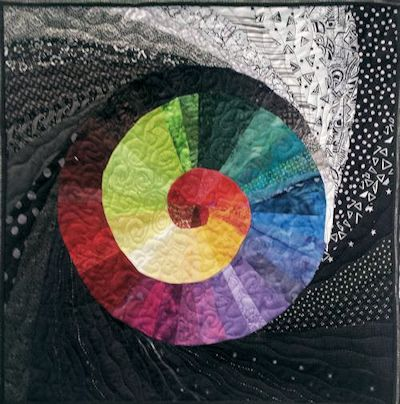 Color Spiral art quilt